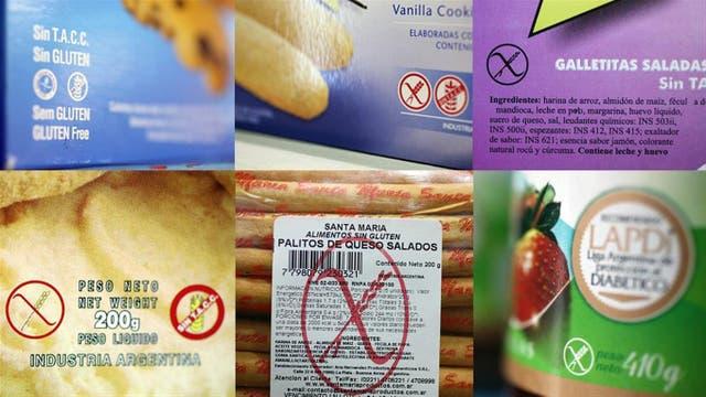 Los logos que identifican los productos libres de gluten.
