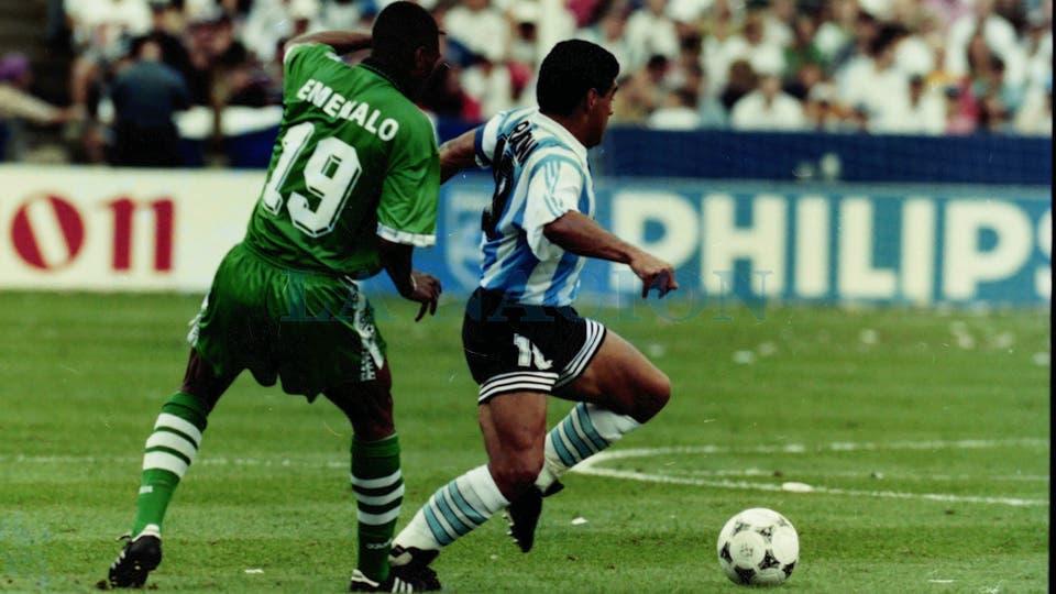 25-6-1994: otro recuerdo de su último partido mundialista.. Foto: LA NACION / Francisco Pizarro