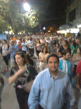 En la ciudad de San Juan fueron muchos los manifestantes que salieron a las calles