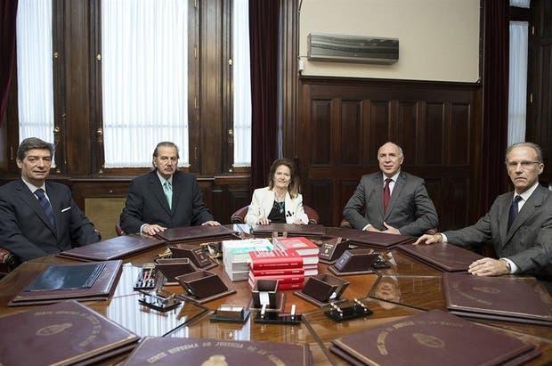 Los jueces de la Corte Suprema, en su conformación actual