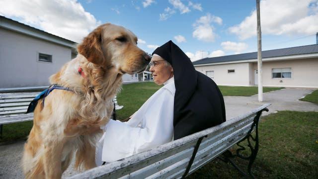 Pauline Quinn, una monja de EE.UU., fue la creadora del programa Dogs in prisons