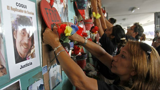 Familiares de las víctimas recuerdan a los fallecidos en la tragedia. Foto: Archivo