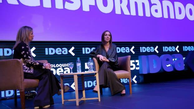 María Eugenia Vidal en el Coloquio de IDEA en Mar del Plata. Foto: LA NACION / Mauro V. Rizzi