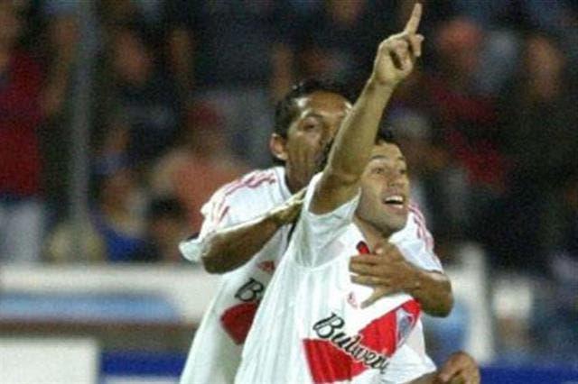 Mascherano y su único gol en River, ante Olmedo