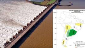 De acuerdo con las últimas estimaciones realizadas, continuará la tendencia creciente en los caudales del río Paraná