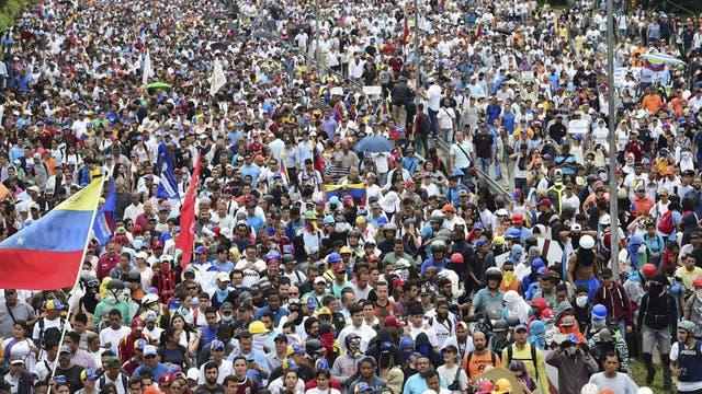 Continúan las manifestaciones en Venezuela en contra del gobierno de Nicolás Maduro