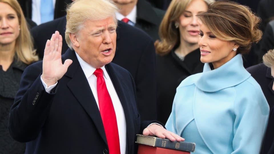 Donald Trump asume como presidente de los EE.UU. Foto: AP