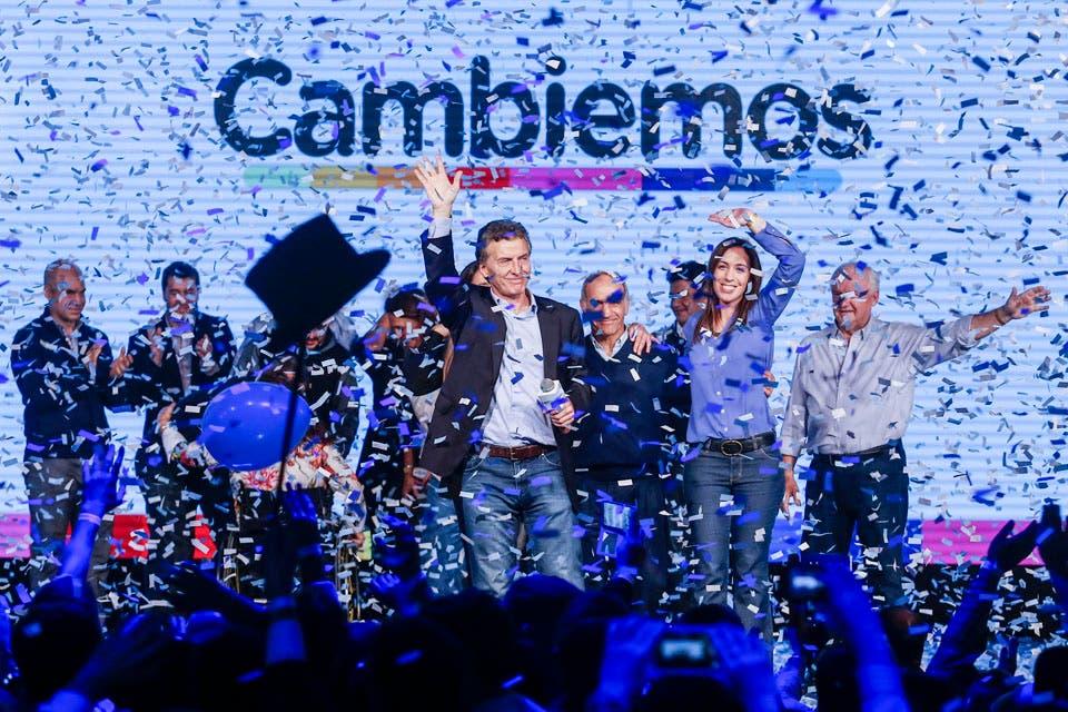 Moderado festejo en el búnker de Cambiemos. Foto: LA NACION /Aníbal Greco