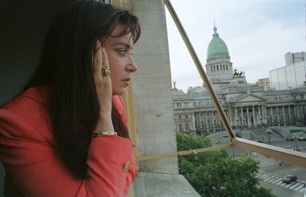 Cristina en su despacho en el anexo el 27 de noviembre de 1997