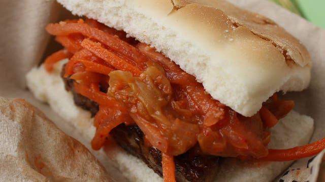 Panceta con kimchi