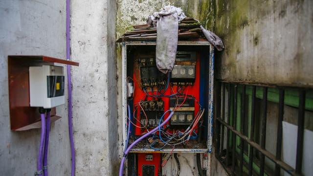 La instalación eléctrica era muy precaria