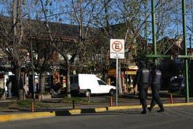Policías en la zona de San Isidro