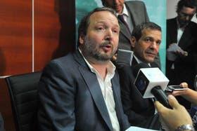 Martín Sabbatella, titular de la Afsca, ayer en conferencia de prensa