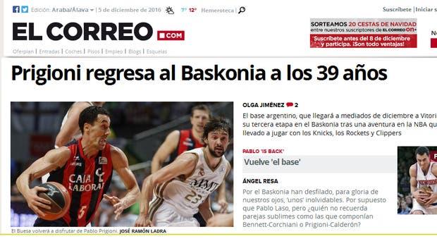 Básquet: Pablo Prigioni ya tiene nuevo equipo