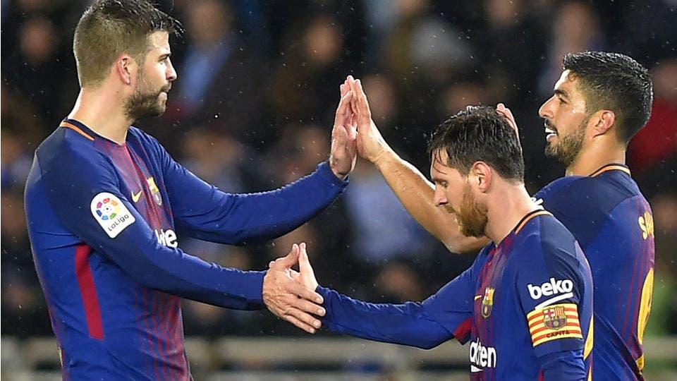 Barcelona ganó 4-2 frente a Real Sociedad y es el único líder de la Liga de España