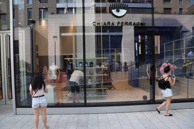 La boutique en la nueva zona comercial Porta Nuova