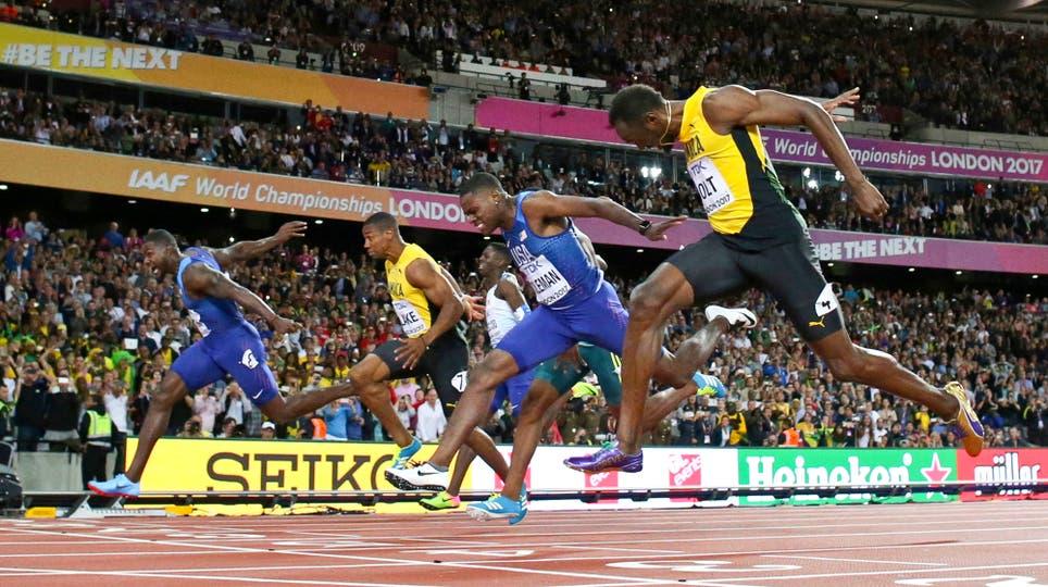 En su última carrera de los 100 metros, Usain Bolt fue tercero y ganó Justin Gatlin. Foto: AP / Matthias Schrader