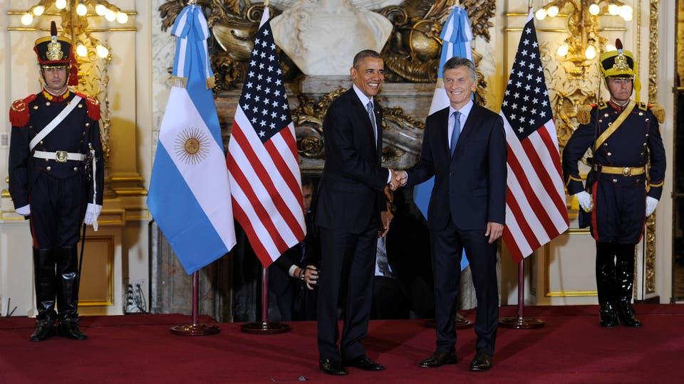 Mauricio Macri recibió a Barack Obama en la Casa Rosada. Foto: Juano Tesone / Pool