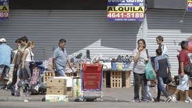 Liniers, un foto afectado fuertemente por los manteros