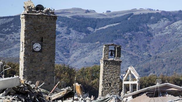 El terremoto provocó daños en Amatrice