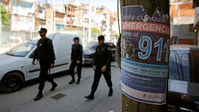 La policía de prevención barrial logró bajar el nivel de homicidios en los asentamientos de Retiro
