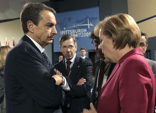 Rodríguez Zapatero, junto a Angela Merkel.. Foto: EFE