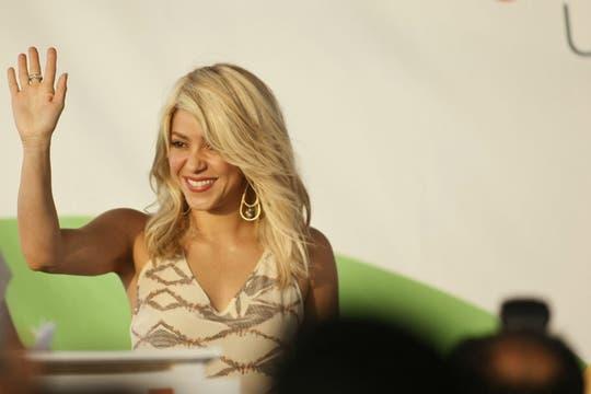 La cantante colombiana Shakira participó de la apertura de la Cumbre de las Américas. Foto: EFE