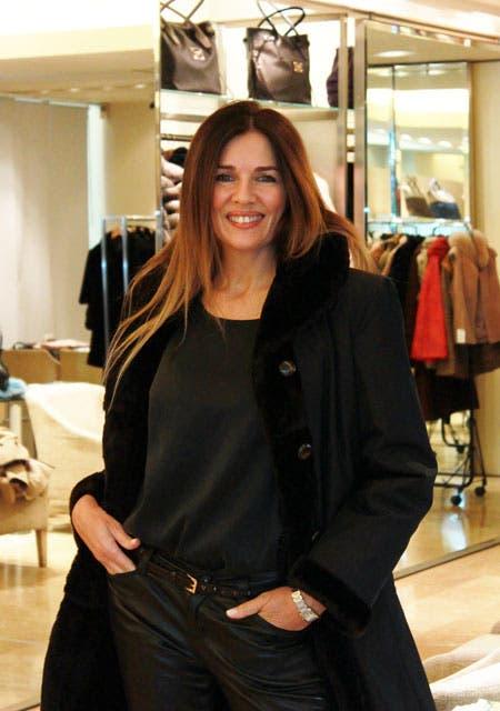 Andrea Frigerio, en una tarde de shopping. Foto: /Prensa Calfún