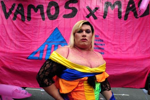 La XXII Marcha del Orgullo Gay convocó en Buenos Aires a cientos de personas. Foto: AFP