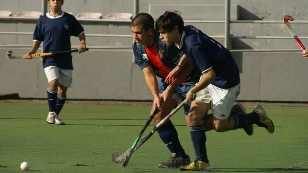 López, de azul, en uno de sus tantos partidos