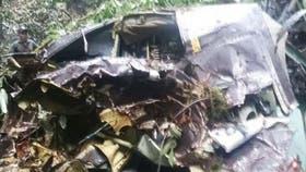 Parte del aparato siniestrado en plena selva ecuatoriana