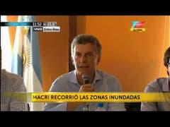 Macri recorrió las zonas inundadas