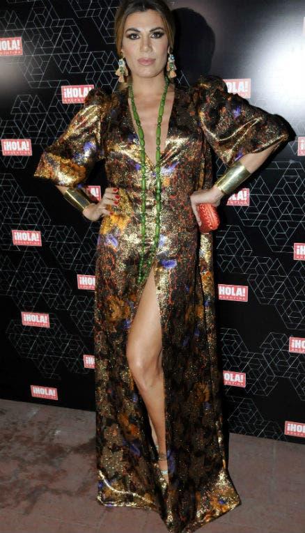 Flor de la V estrenó uno de los vestidos de su firma para celebrar el lanzamiento de un nuevo especial de ¡Hola! Moda. Foto: /Gerardo Viercovich