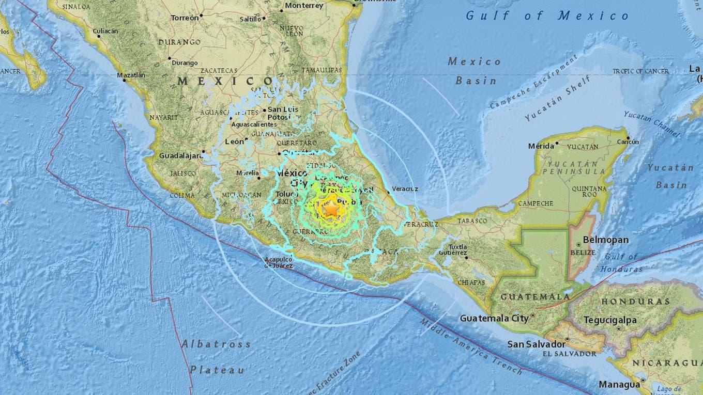La zona donde fue el epicentro del terremoto earthquake.usgs.gov