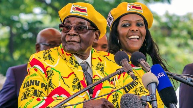 El presidente, Robert Mugabe