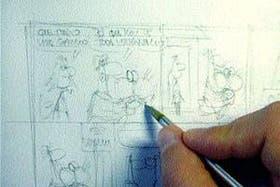1. Hacer un boceto en lápiz de las formas y los contenidos