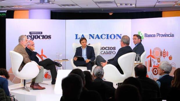 Fernando Vilella, Gustavo López, José Del Río, Francisco Lugano y Gustavo Oliverio, en Negocios del Campo