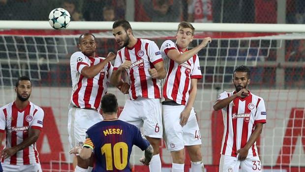 Un tiro libre de Messi, la más clara del partido