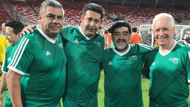Maradona compartió cancha con