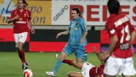 Messi jugó contra Murcia en 2008, en la Liga