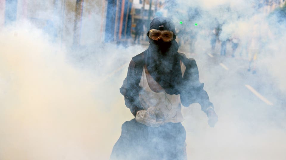 Hubo duros enfrentamientos entre policías y manifestantes. Foto: AFP / Federico Parra