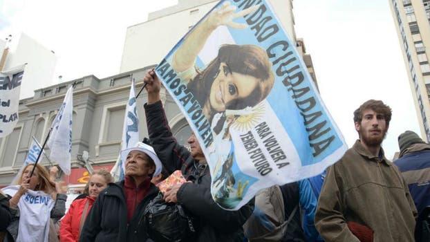 La previa al acto de Cristina Kirchner en Mar del Plata. Foto: Mara Sosti