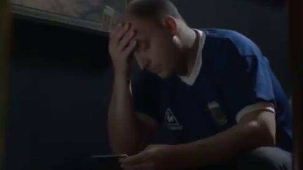 El sufrimiento de un hincha argentino