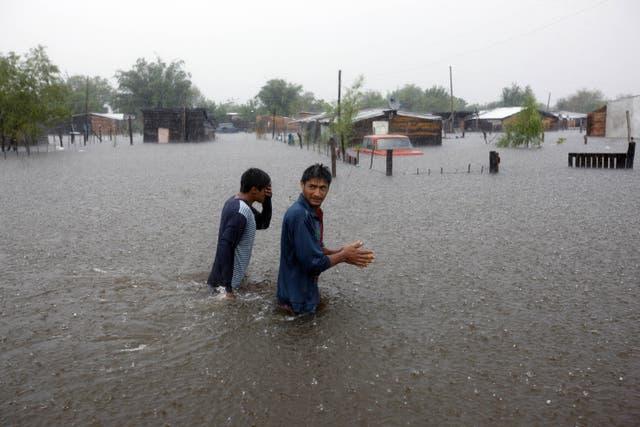 Inundaciones en la localidad Esquina, de Corrientes