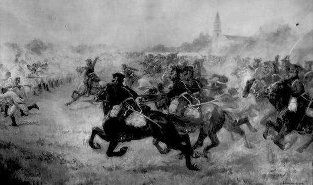 El combate de San Lorenzo, obra del artista chileno Pedro Subercaseaux