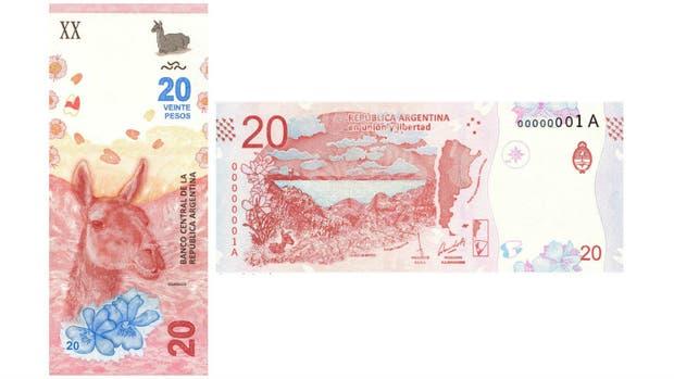 Anverso y reverso del nuevo billete de $ 20