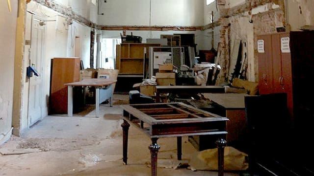 Una de las áreas deterioradas de la Casa Rosada