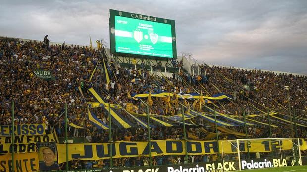 Panorama de la tribuna de Boca el sábado pasado en Banfield