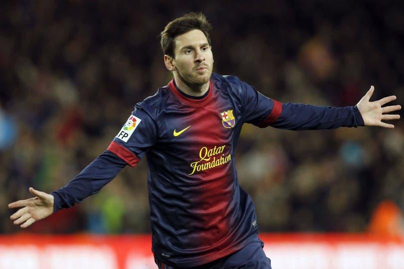 Messi celebra por 89º vez en el año. Foto: AFP