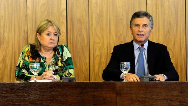 Susana Malcorra y Mauricio Macri